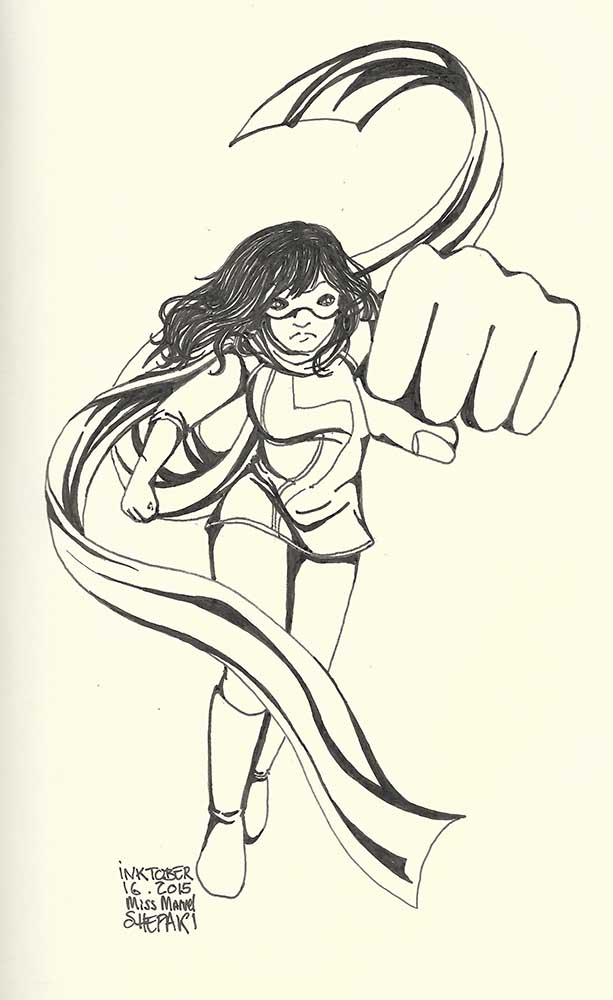 inktober 16 - ms marvel