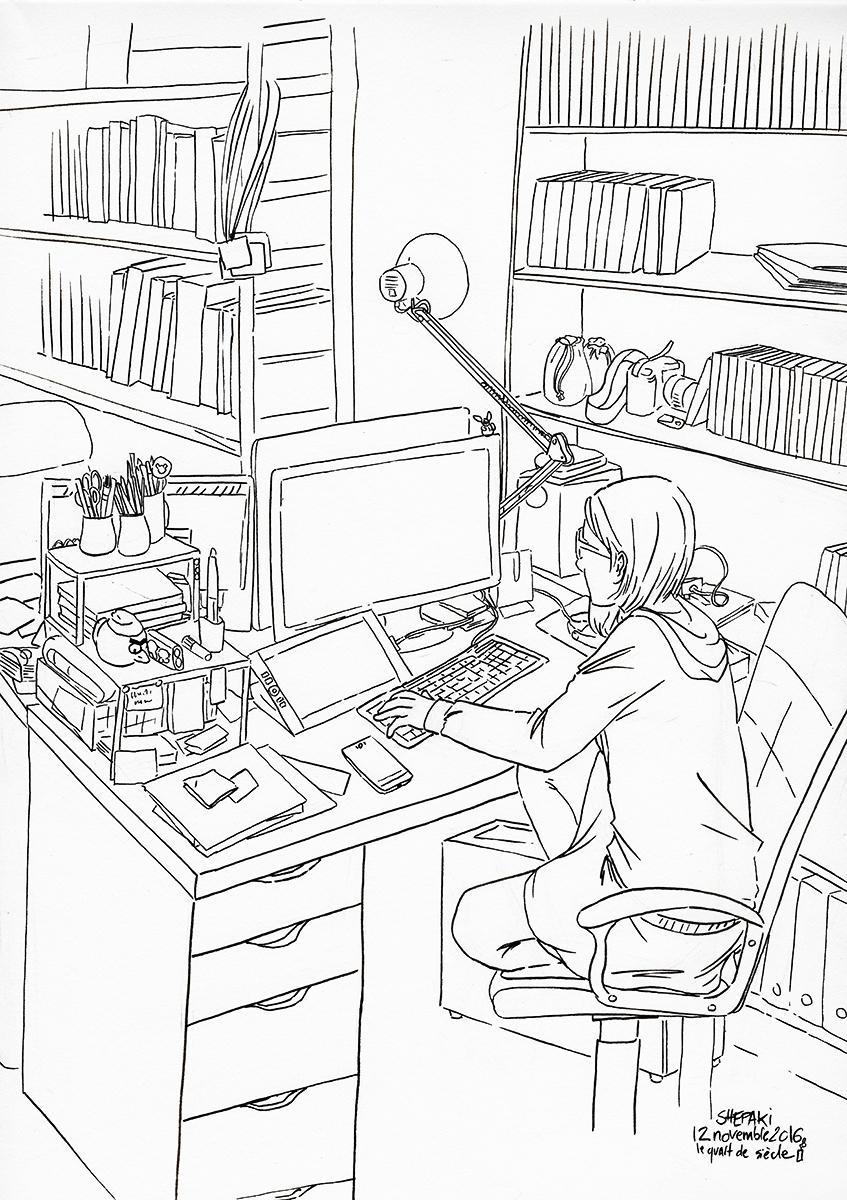 bureau 2016 noir et blanc